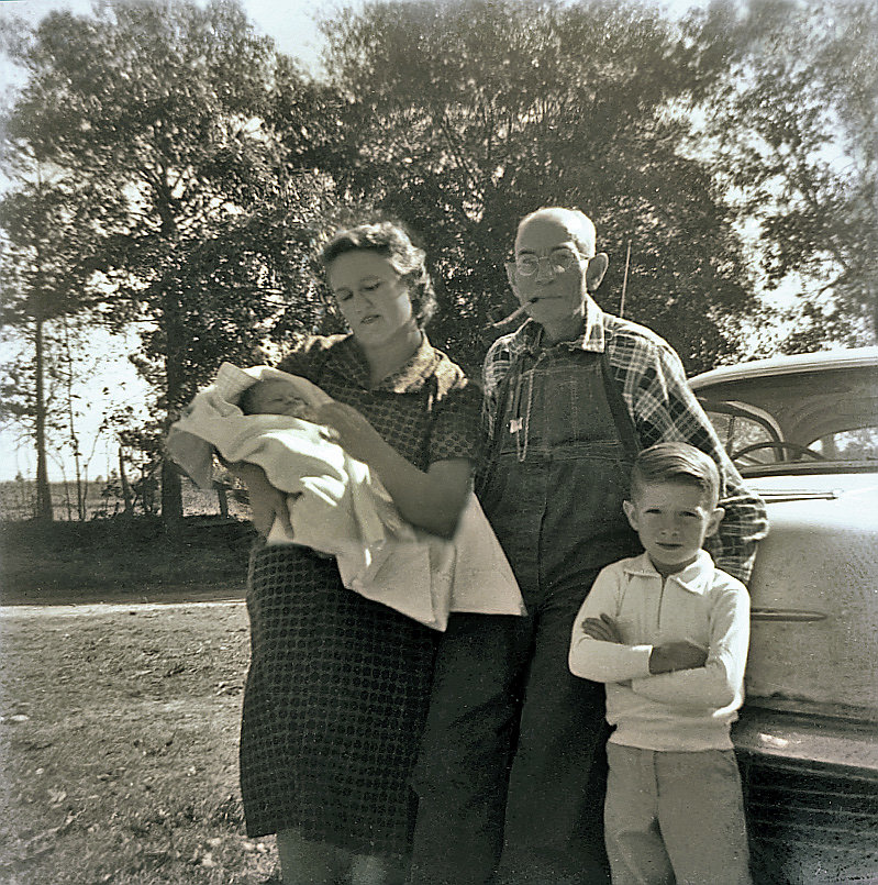 James Ovide Jones with Daughter and Grandchildren