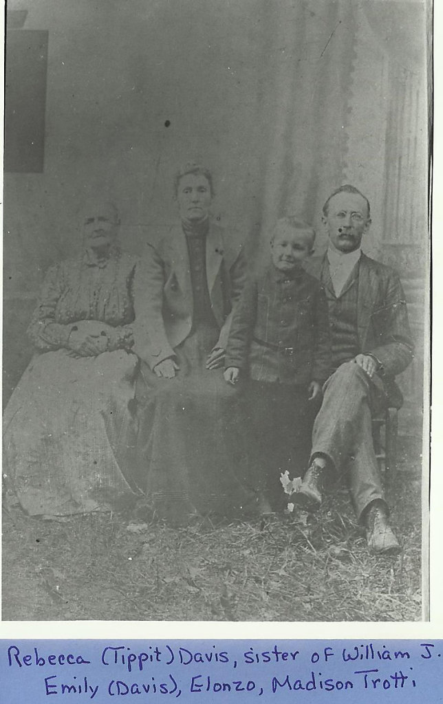 Rebecca Tippit Davis with Daugther's Family